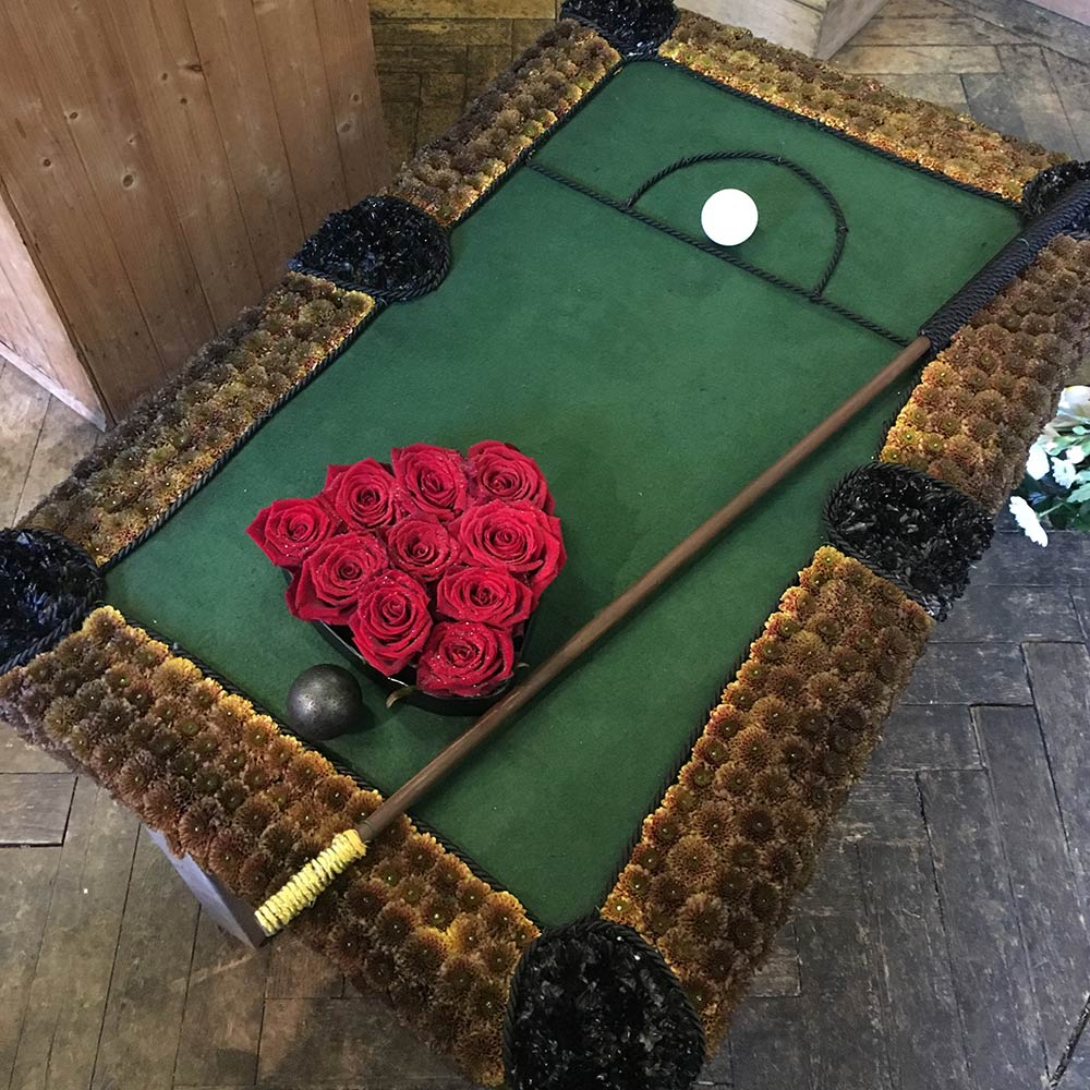 Pool Table Funeral Tribute