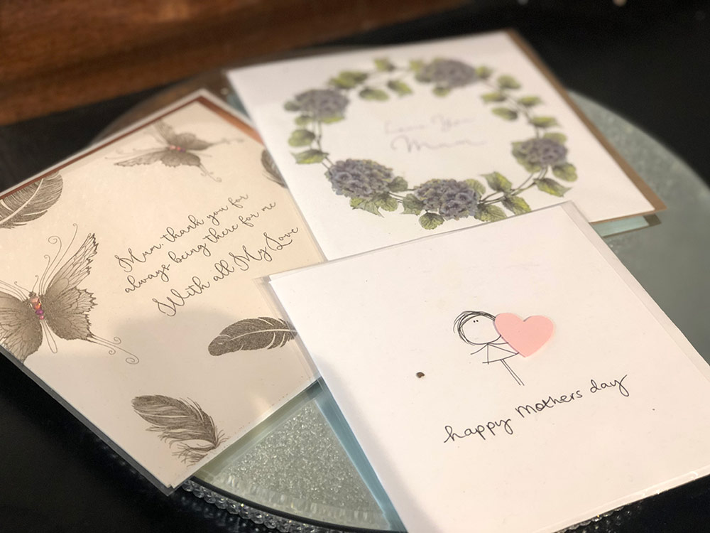 Selection of mother's day cards