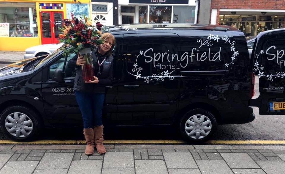 Springfield Florist's flower delivery van