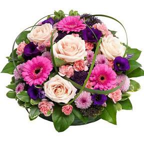 Posy in purple and pinks