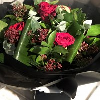 6 Red Rose Hand Tied