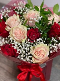 Pink and Red Rose Dozen