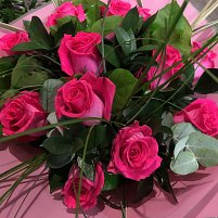 Pink Rose Hand Tied Bouquet
